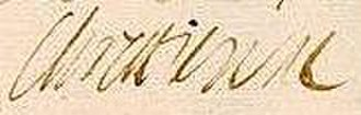 Christine of France - Image: Signature of Christine of France, Duchess of Savoy in 1630