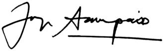 Jorge Sampaio - Image: Signature of Jorge Sampaio