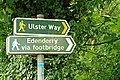 Signs at the Drum Bridge near Belfast - geograph.org.uk - 916841.jpg