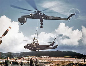 Sikorsky Skycrane carrying 2 Hueys c.jpg