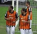 Singapore Selection vs Juventus, 2014, Juve's Training Session - Giorgio Chiellini, Martín Cáceres and Luca Marrone.jpg