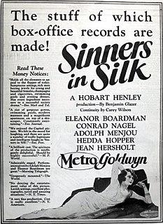 <i>Sinners in Silk</i> 1924 film by Hobart Henley