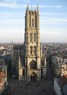 St Bavos Cathedral, Ghent church in Ghent, Belgium