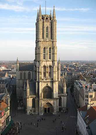 St Bavo's Cathedral, Ghent - Sint-Baafs Cathedral, West facade.