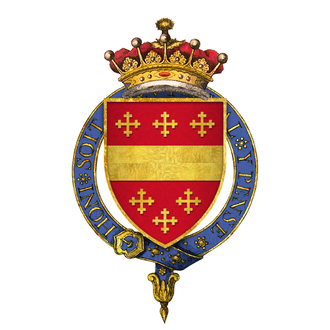 Thomas de Beauchamp, 12th Earl of Warwick - Arms of Sir Thomas Beauchamp, 12th Earl of Warwick, KG. Gules, a fesse between six crosses crosslet or
