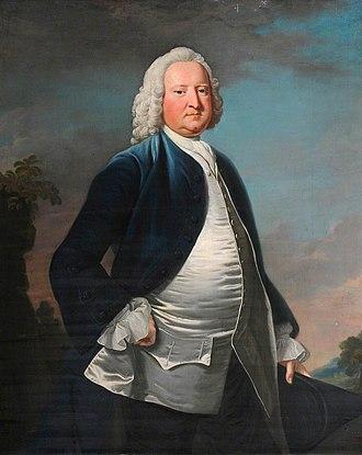 Sir Watkin Williams-Wynn, 3rd Baronet - Sir Watkin Williams Wynn; the blue waistcoat was a sign used by Tory Jacobite sympathisers