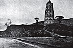 Old drawing of the pagoda