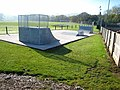 Skateboard ramps, Wark sports ground - geograph.org.uk - 617593.jpg
