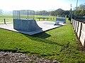 Skateboard ramps, Wark sports ground - geograph.org.uk - 617593.jpg