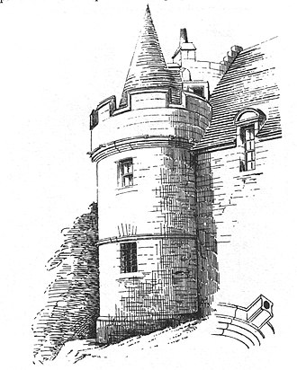 Skelmorlie Castle - The castle from the southeast in the 1880s.