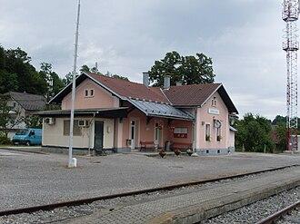 Škofljica - Image: Skofljica train station