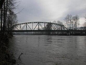 Skykomish River - Skykomish River at Monroe, near flood stage