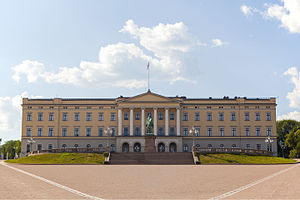 Royal Palace, Oslo - View of the front façade