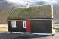 Small house with turf roof in Gasadalur, Faroe Islands,.jpg
