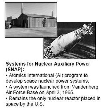 Santa Susana Field Laboratory - SSFL: the Atomics International Snap reactor.