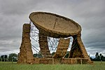 Sculpture of the Lovell Telescope