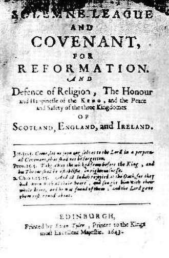 Thomas Blake (minister) - Title page of the Solemn League and Covenant.