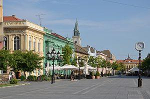 Sombor - Main pedestrian street