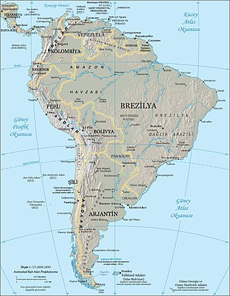 Bibliography of South America - Image: South america tr