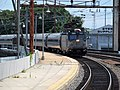Southbound Northeast Regional arriving at Wilmington, July 2014.JPG