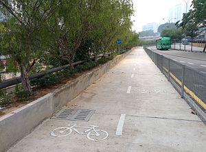 Cycling in Kuala Lumpur - Image: Southwest Dedicated Bicycle Highway, viewing from north
