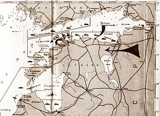 Estonia in World War II - Schematics of the Soviet military blockade and invasion of Estonia in 1940. (Russian State Naval Archives)