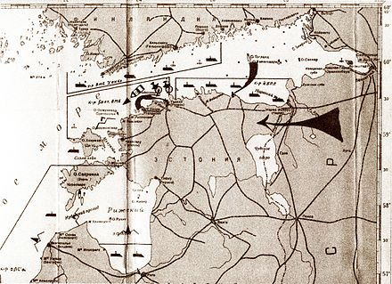 Schematics of the Soviet military blockade and invasion of Estonia in 1940. (Russian State Naval Archives) SovietBlockade1940.jpg
