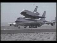 Space Shuttle Enterprise 747 takeoff