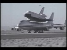 Datei:Space Shuttle Enterprise 747 takeoff.ogv
