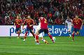 Spain - Chile - 10-09-2013 - Geneva - Ignacio Monreal, Sergio Ramos, Raul Albiol and Javi Garcia.jpg
