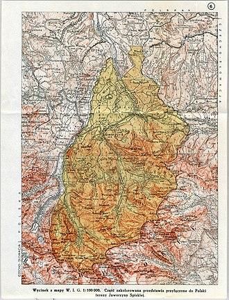 Tatranská Javorina - Disputed territory around Tatranská Javorina