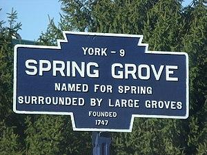 Spring Grove, Pennsylvania - Image: Spring Grove, PA Keystone Marker