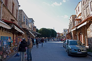 Square in north old town of Rhodes 2010.jpg