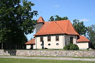 Stębark Village in Warmian-Masurian Voivodeship, Poland