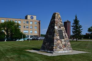 St. Mary's University, Calgary - Image: St.Mary's University College Cairn 01