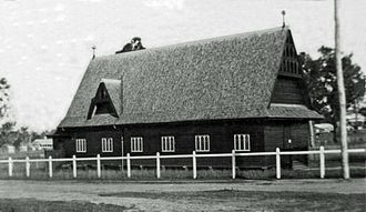 St. Andrew's Church, Toogoolawah - St. Andrew's Anglican Church, Toogoolawah, without buttresses, 1912