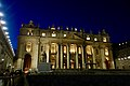 St. Peter's Square and St. Peter's Basilica by Night (32746866328).jpg
