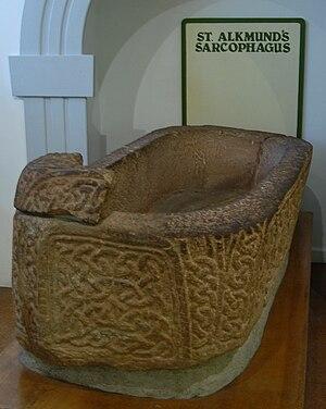 St Alkmund's Church, Derby - Image: St Alkmunds Sarcophagus