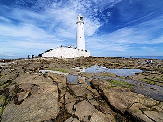 St Marys Lighthouse Lighthouse at North Tyneside, Tyne and Wear, England