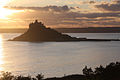 St Michael's Mount at sunset - geograph.org.uk - 1648474.jpg