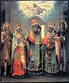 St Paul the Simple, Barsanuphius of Tver, Guri & Herman of Kazan, & Evdokia.jpg
