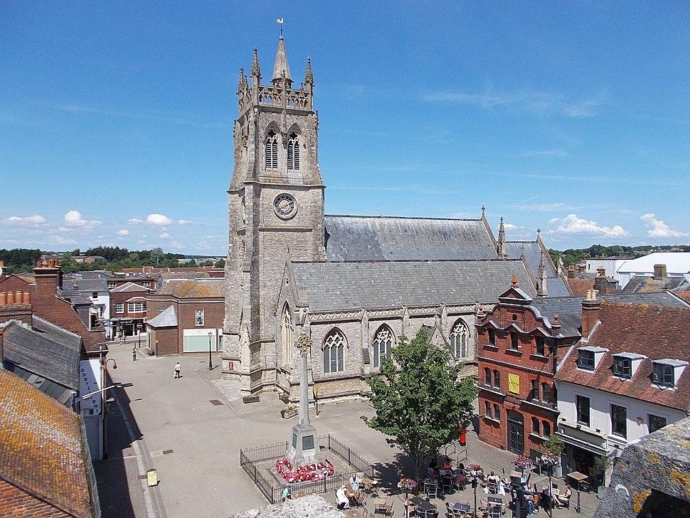St Thomas' Square, Newport, Isle of Wight, UK