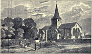 Drawing of the Church of St. Lawrence, Alton (1830)
