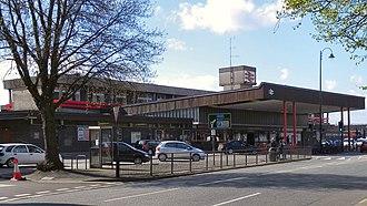 Stafford railway station - Station entrance.