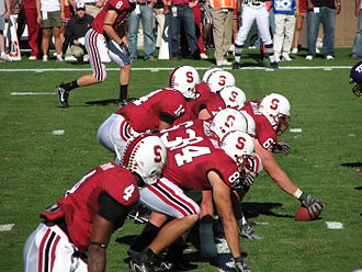 Stanford Cardinal football - 2007 offense lined up for a play
