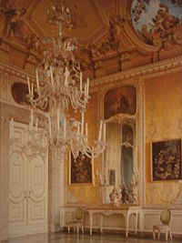 A Rococo Room In The Palace Of Caserta