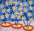 Star Flowers. Painting by V. Bakliyskyi 1990.jpg
