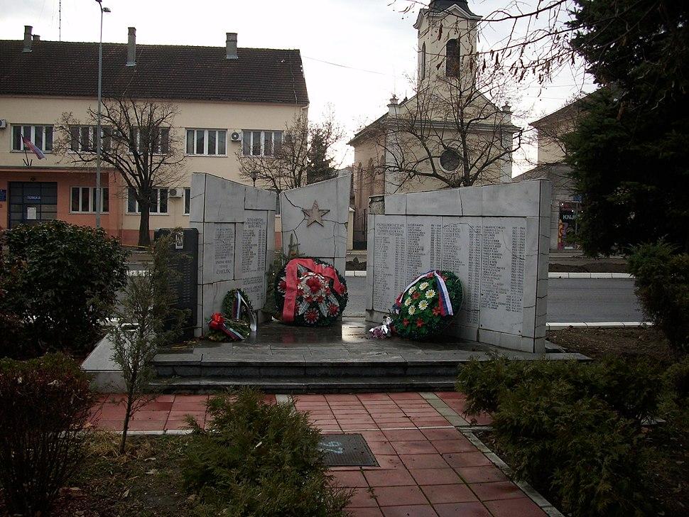 Stara Pazova - Spomenik učesnicima NOB-a