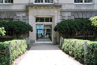 State Historical Society of Missouri - Ellis Library entrance to the State Historical Society of Missouri.