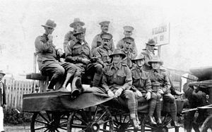English: Recruits on a parade float in Brisban...